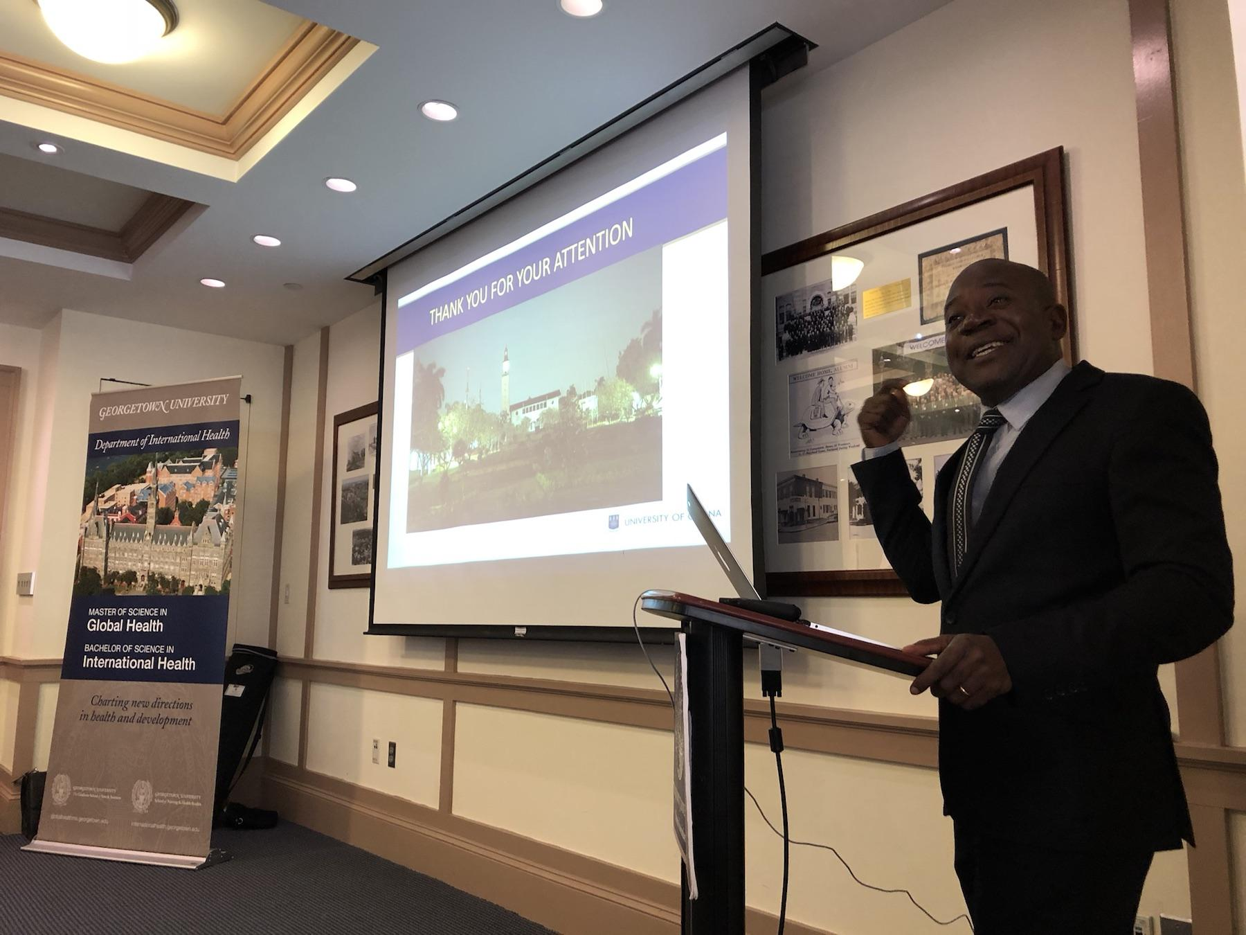Expert Addresses Ghana & Urban System Demographic Trends To GU Students