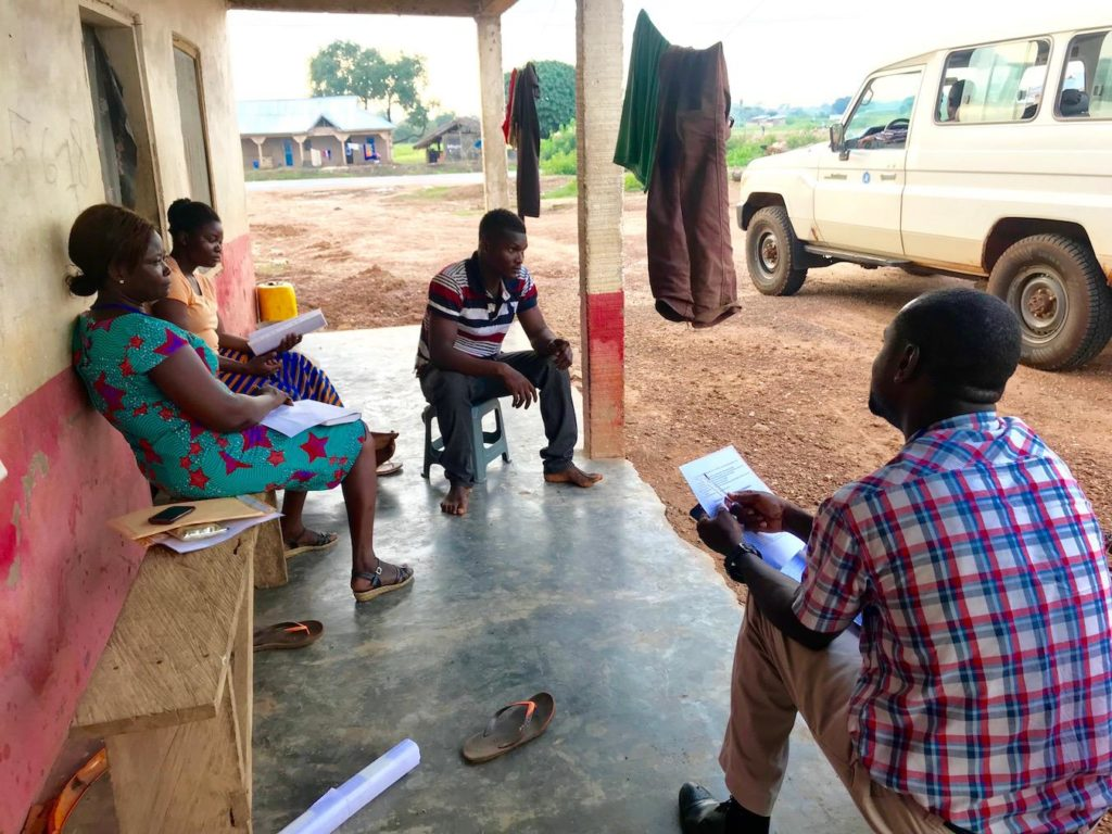 A field research study is conducted by an MSGH student in central Ghana.