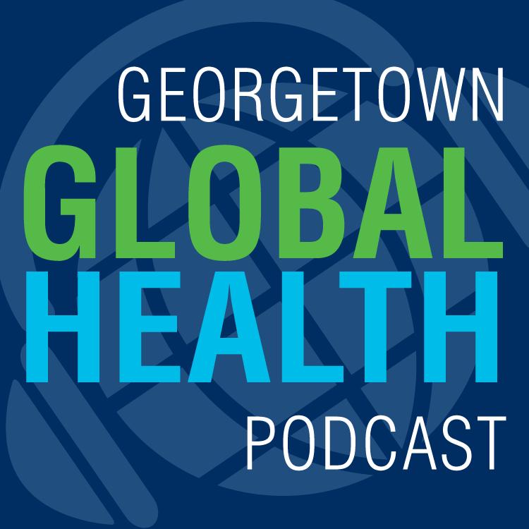 Georgetown Global Health Podcast logo.
